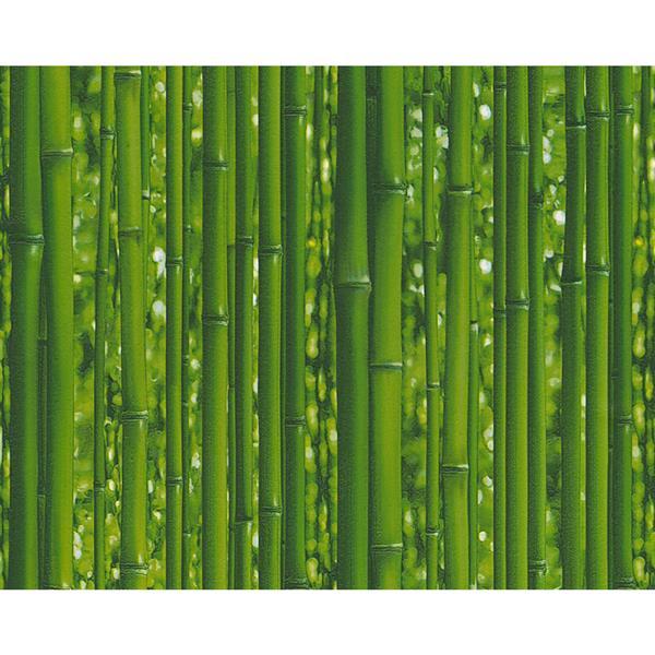 A.S. Creation Dekora Natur 6 Wallpaper Roll - 21-in - Bamboo Design - Green