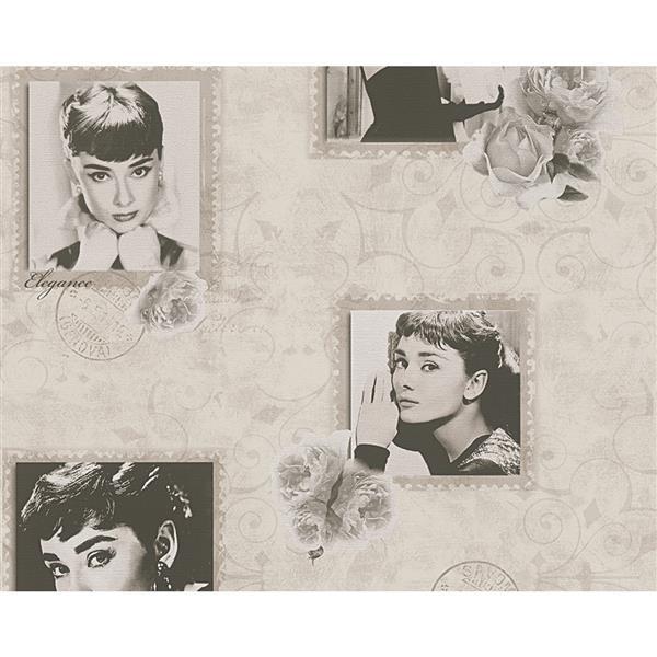 A.S. Creation Dekora Natur 6 Wallpaper Roll - 21-in - Vintage Pictures - Brown/Beige