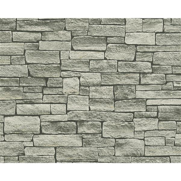 A.S. Creation Dekora Natur 6 Wallpaper Roll - 21-in - Real Brick Effect - Light Grey