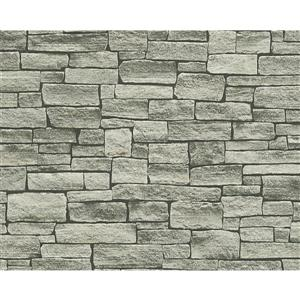 A.S. Creation Dekora Natur 6 Wallpaper Roll - 21 -in - Gray Stone