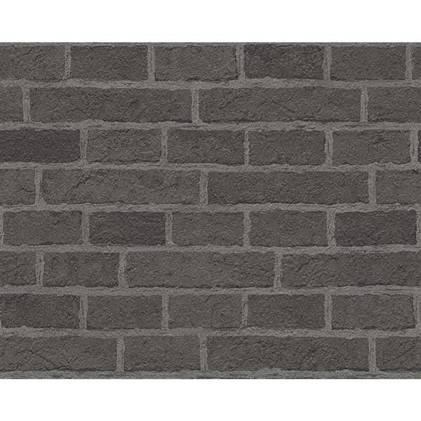 A.S. Creation Dekora Natur 6 Wallpaper Roll - 21-in - Real Brick Effect - Dark Grey