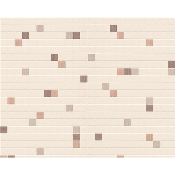 A.S. Creation Dekora Natur 6 Wallpaper Roll - 21-in - Tile Effect - Beige