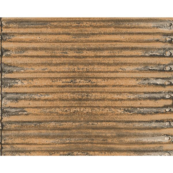 A.S. Creation Deco World 2 Wallpaper Roll - 21-in - Rusty Brown