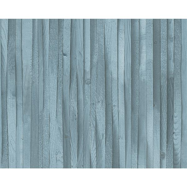 A.S. Creation Deco World 2 Wallpaper Roll - 21-in - Faux Wood Blue Stripes