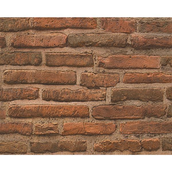 A.S. Creation Deco World 2 Wallpaper Roll - 21-in - Rusty Brown Bricks