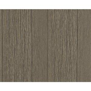 A.S. Creation Deco World 2 Wallpaper Roll - 21-in - Faux Wood Effect - Brown/Grey