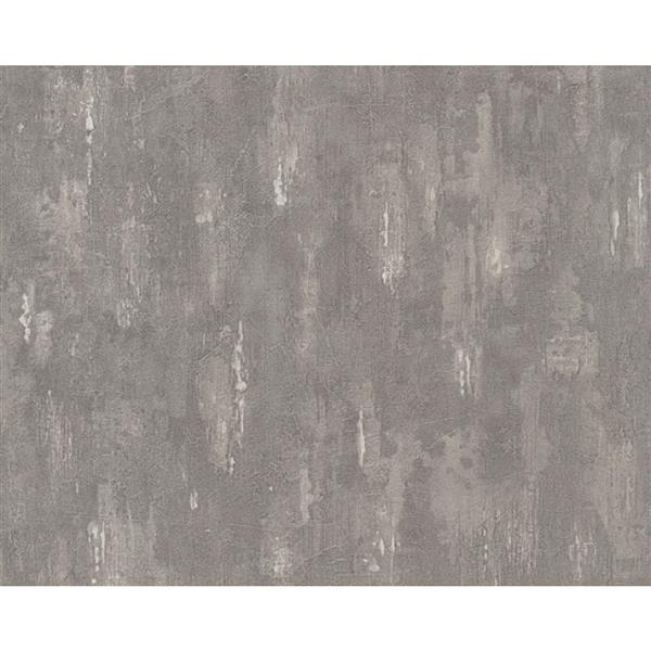 A.S. Creation Deco World 2 Wallpaper Roll - 21-in - Heather Grey Pattern