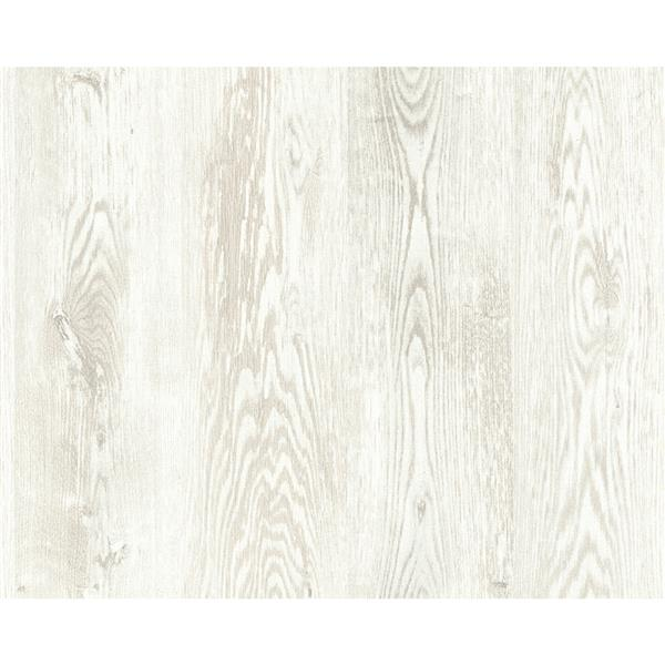 A.S. Creation Deco World Wallpaper Roll - 21-in - Faux Wood Design - Off-White