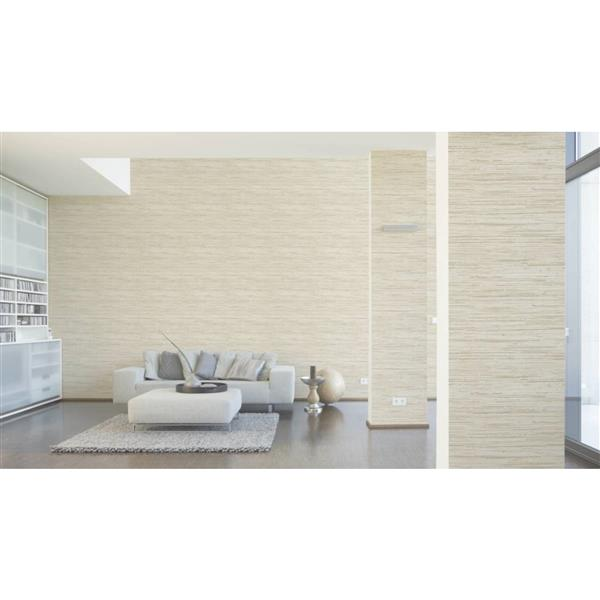 A.S. Creation Deco World Wallpaper Roll - 21-in - Faux Wood Design - Beige