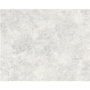 A.S. Creation Deco World Wallpaper Roll - 21-in - Faux Finish Pattern - Light Grey/White