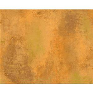 A.S. Creation Deco World Wallpaper Roll - 21-in - Faux Finish Pattern - Orange/Yellow