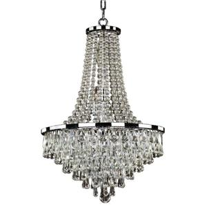 "Glow Lighting Summer Rain 638 Pendant Light - 19"" - Crystal"