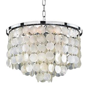 "Glow Lighting Chandelier Bayside 636 Glow - 16"" - Capiz Shells"
