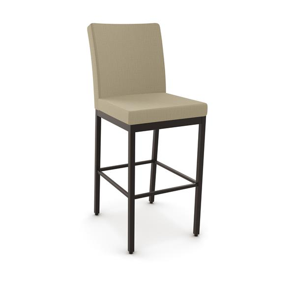 Amisco Perry Non Swivel Stool- Brown