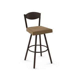 Amisco Larkin Swivel Stool- Brown
