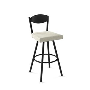 Amisco Larkin Swivel Stool- Black