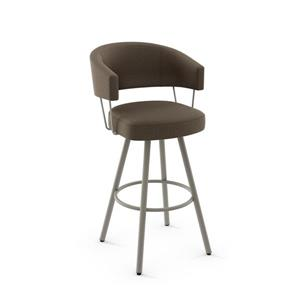 Amisco Corey Swivel Stool- Grey