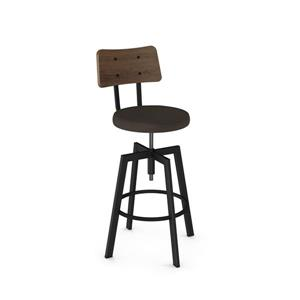Amisco Symmetry Screw Stool - Black