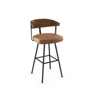 Quinton Swivel Stool- Brown