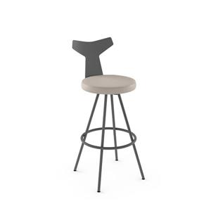 Gustav Swivel Stool- Grey