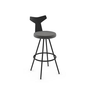 Gustav Swivel Stool - Black