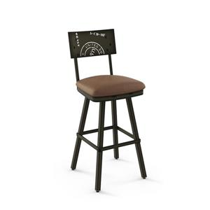 Amisco Wilson Swivel Stool - Black