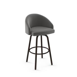Amisco Minto Swivel Stool - Brown