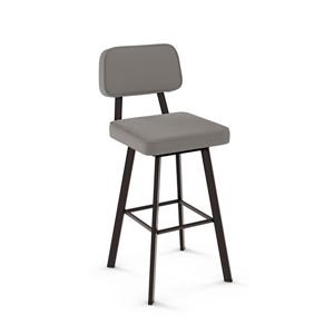 Amisco Clarkson Swivel Stool - Brown