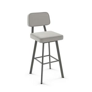 Amisco Clarkson Swivel Stool - Grey
