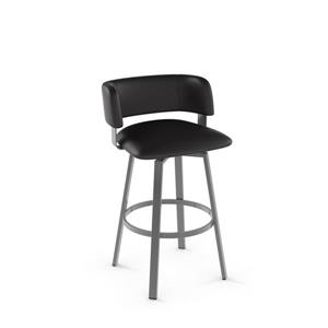 Amisco Stinson Swivel Stool - Grey