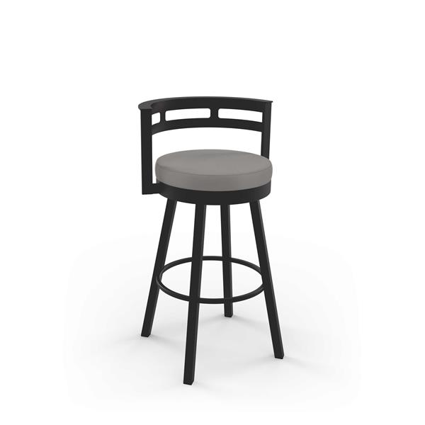 Amisco Render Swivel Stool - Brown Metal and Fabric
