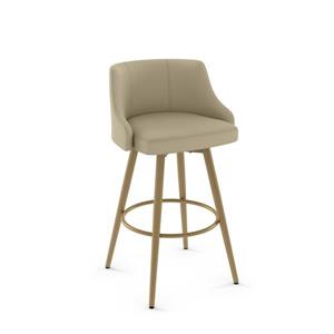Amisco Duncan Swivel Stool - Gold
