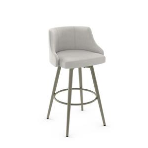 Amisco Duncan Swivel Stool - Grey