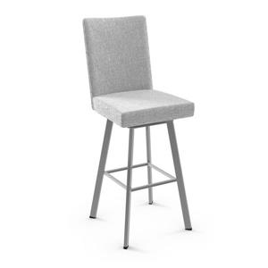Amisco Elmira Swivel Stool - Grey