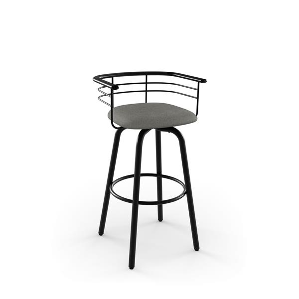 Amisco Turbo Swivel Stool - Black
