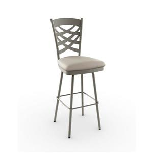 Amisco Washington Swivel Stool - Grey