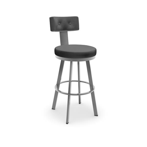 Amisco Tower Swivel Stool - Grey