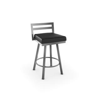 Amisco Derek Swivel Stool - Grey