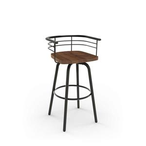 Amisco Brisk Swivel Stool - Black