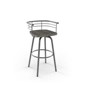 Amisco Brisk Swivel Stool - Grey
