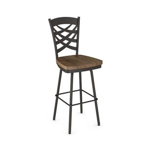 Amisco Weaver Swivel Stool - Brown