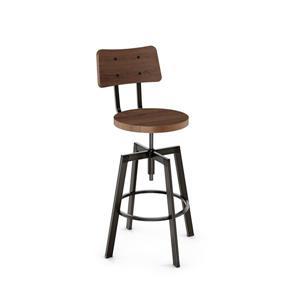 Amisco Woodland Screw Stool - Black