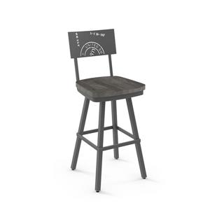 Amisco Jameson Swivel Stool - Grey