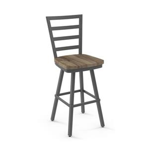 Amisco Prescot Swivel Stool - Grey