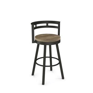 Amisco Vector Swivel Stool - Brown