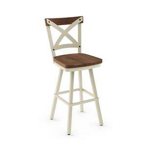 Amisco Jasper Swivel Stool - Beige