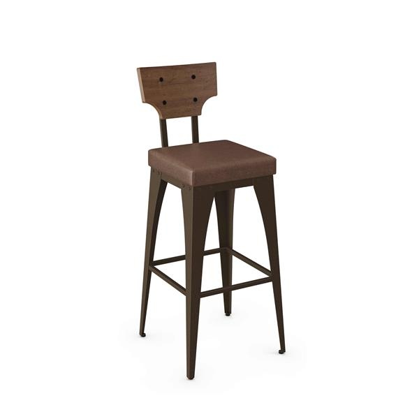 Amisco Rally Non Swivel Stool - Brown