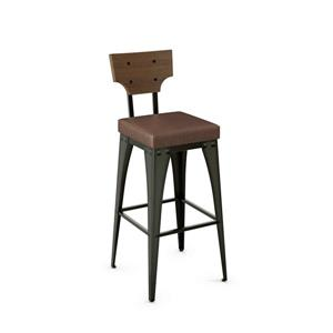 Amisco Rally Non Swivel Stool - Black