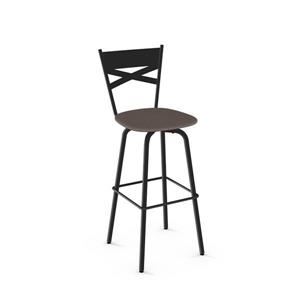 Amisco Tommy Swivel Stool - Black