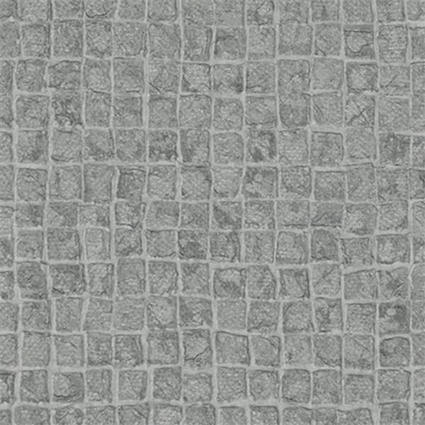 design id Modern Stone Embossed Wallpaper Roll - Grey